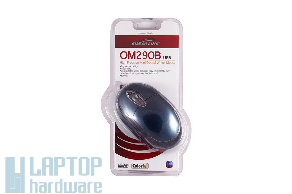 Silver Line kék USB optikai egér (OM290B)