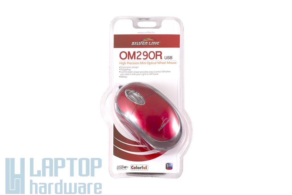 Silver Line piros USB optikai egér (OM290R)