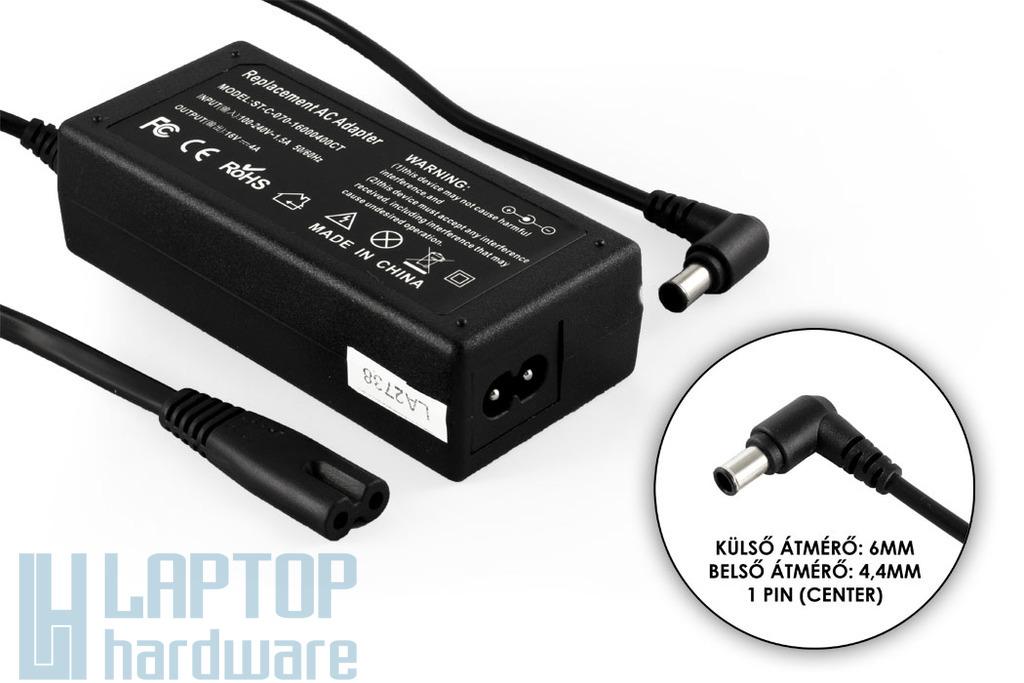Sony Vaio, Fujitsu-Siemens LifeBook 16V 4A 65W helyettesítő új laptop töltő (Center pin)  (VGP-AC16V8, PCGA-AC16V7)