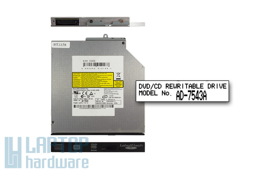 Sony Nec IDE használt laptop DVD-író (AD-7543A)
