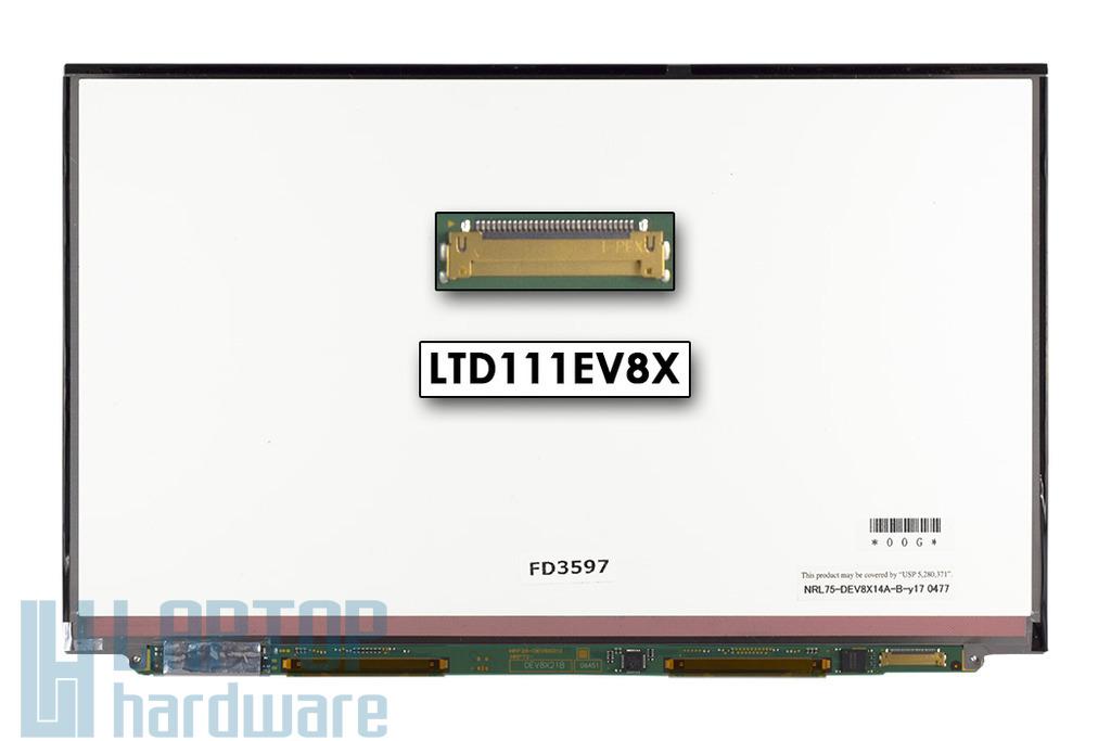 Gyári új matt 11.1'' HD (1366x768) LED laptop Slim kijelző (csatlakozó: 30 pin - jobb)