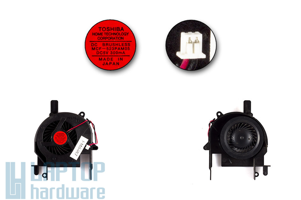 SONY Vaio PCG-6S2N, VGN-SZ54B laptop hűtő ventilátor (MCF-523PAM05)