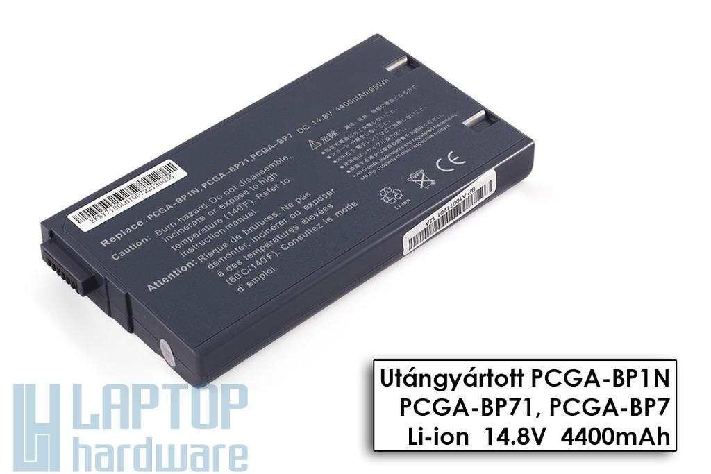 Sony Vaio PCG-700, PCG-800, PCG-F14 helyettesítő új 6 cellás ezüst laptop akku/akkumulátor (PCGA-BP71)