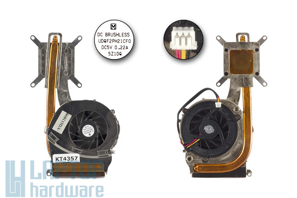 Sony Vaio PCG-7L1M laptophoz használt komplett hűtőegység (060119DA)