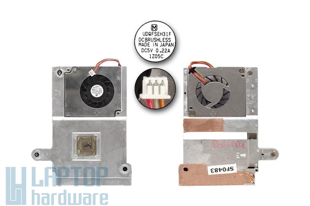 Sony Vaio PCG-FXA47 laptophoz használt komplett hűtő ventilátor egység (UDQFSEH31F)