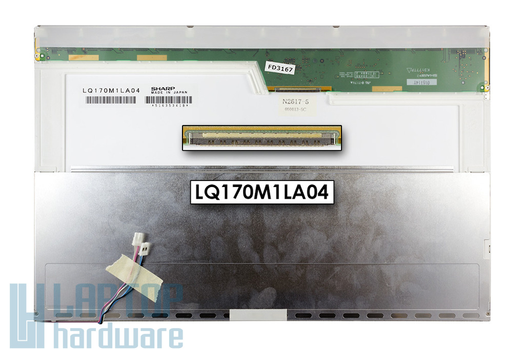 Sony Vaio, SHARP LQ170M1LA04 2 CCFL 1920x1200 WUXGA fényes notebook kijelző