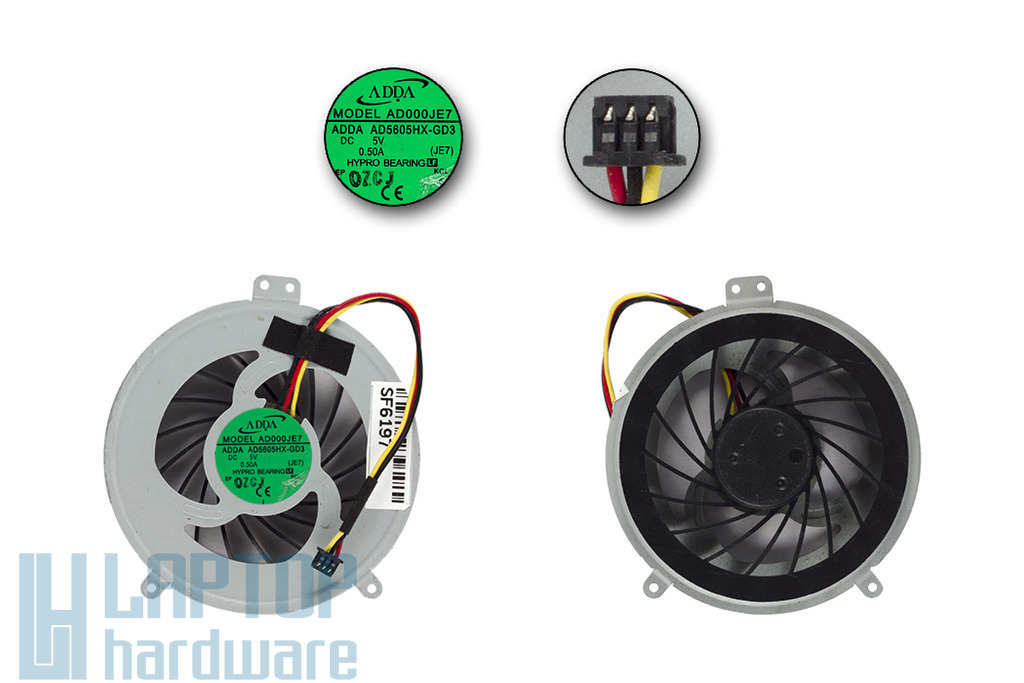 SONY Vaio SVE-15, PCG-61611M gyári új laptop hűtő ventilátor, AD5605HX-GD3