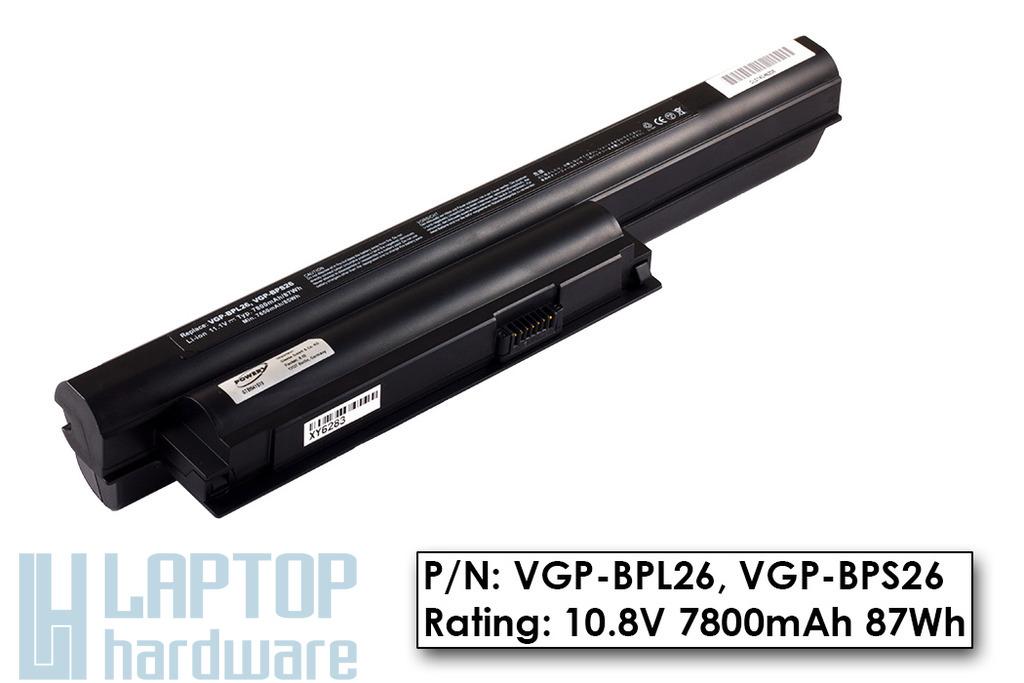 Sony Vaio SVE15, VPC-CA, VPC-EH 9 cellás használt 100%-os laptop akku/akkumulátor (VGP-BPL26, VGP-BPS26)
