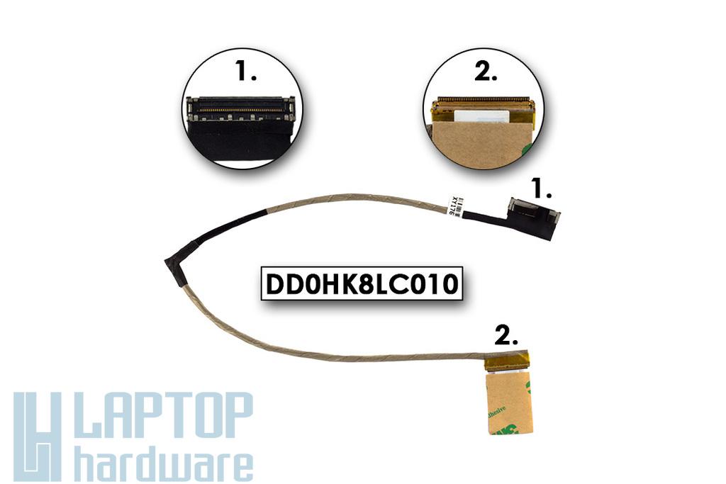 Sony Vaio SVF-14 sorozatú laptopokhoz gyári új LCD kijelző kábel (14'' LED) (DD0HK8LC010)