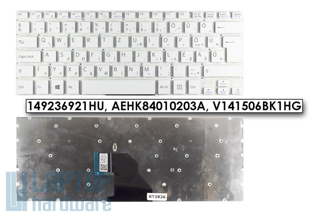 Sony VAIO SVF14 (WIN8) gyári új fehér, magyar laptop billentyűzet,149236921HU