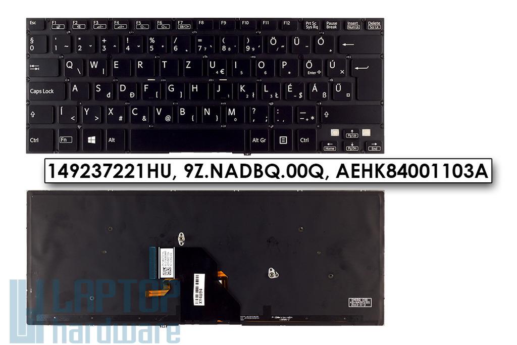 Sony Vaio SVF14 (WIN8) gyári új magyar háttér-világításos fekete laptop billentyűzet (149237221HU)