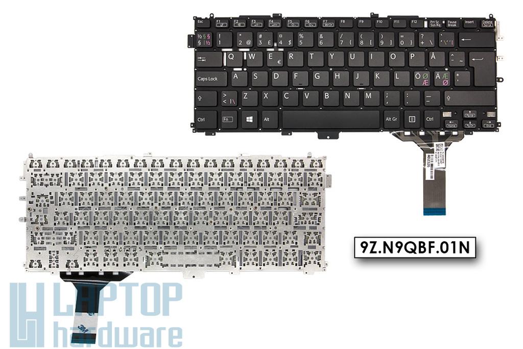 Sony Vaio SVP132A1CM gyári új norvég keret nélküli fekete laptop billentyűzet (149243481SE)