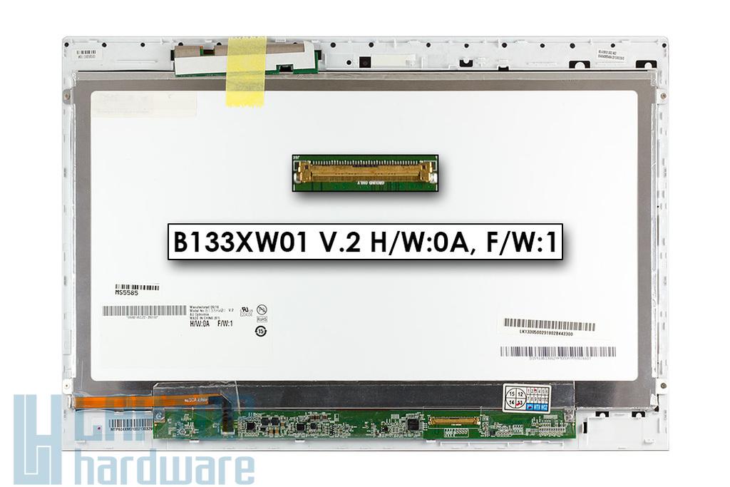 Sony Vaio SVT131 gyári új fényes 13.3'' (1366x768) laptop Slim kijelző modul (AUO B133XW01 V.2 H/W:0A, F/W:1)
