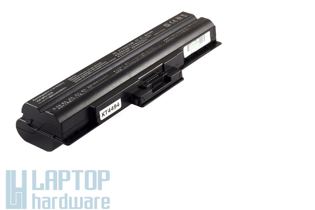 Sony Vaio VGN-AW230, VGN-CS190, VGN-TX56 helyettesítő új 12 cellás fekete laptop akku/akkumulátor (VGP-BPS13A/B)
