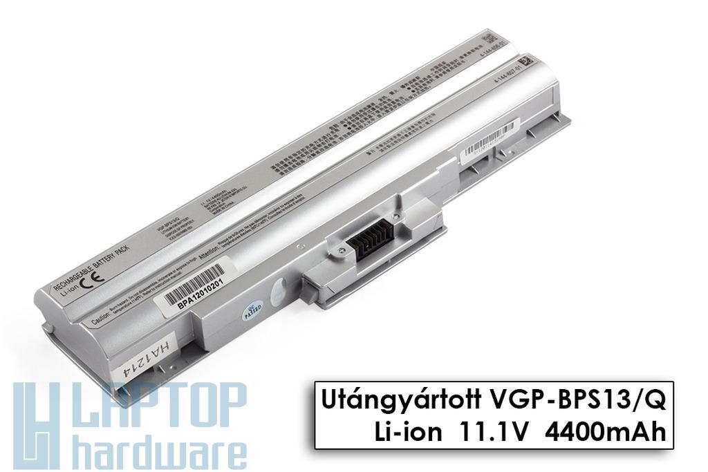 Sony Vaio VGN-AW230, VGN-CS190, VGN-TX56 helyettesítő új 6 cellás ezüst laptop akku/akkumulátor (VGP-BPS13, VGP-BPS21)