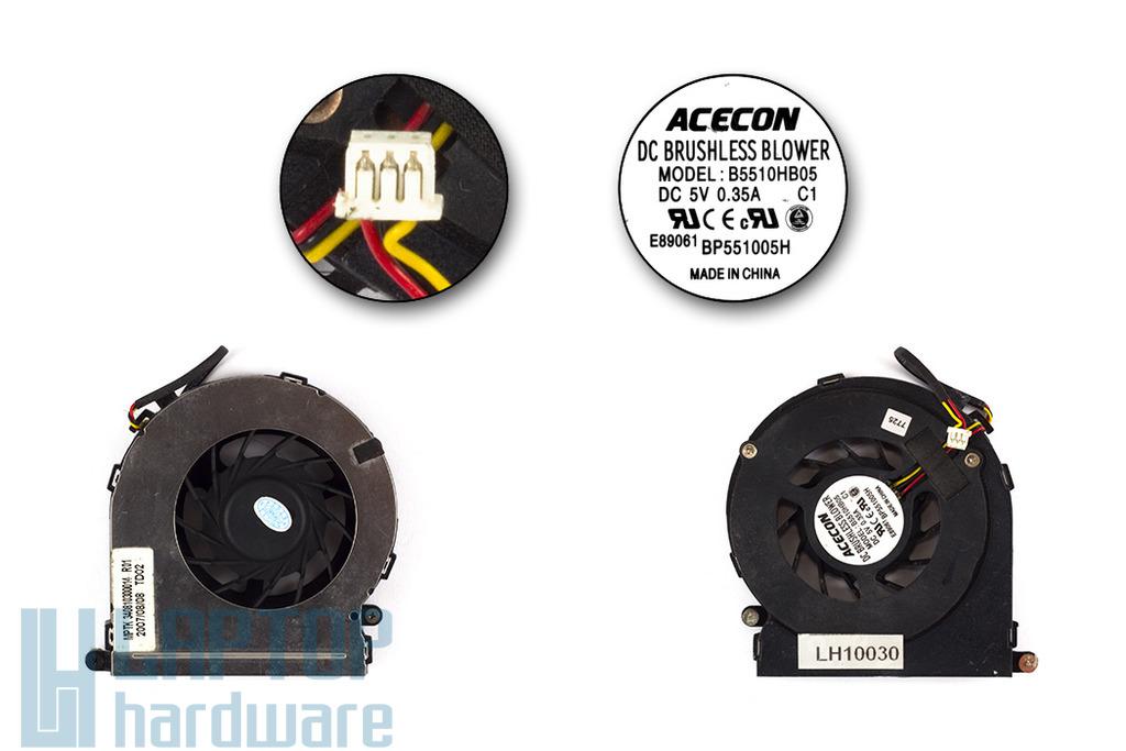 Sony Vaio VGN-CS110, Maxdata 4011 IW használt laptop hűtő ventilátor (B5510HB05)