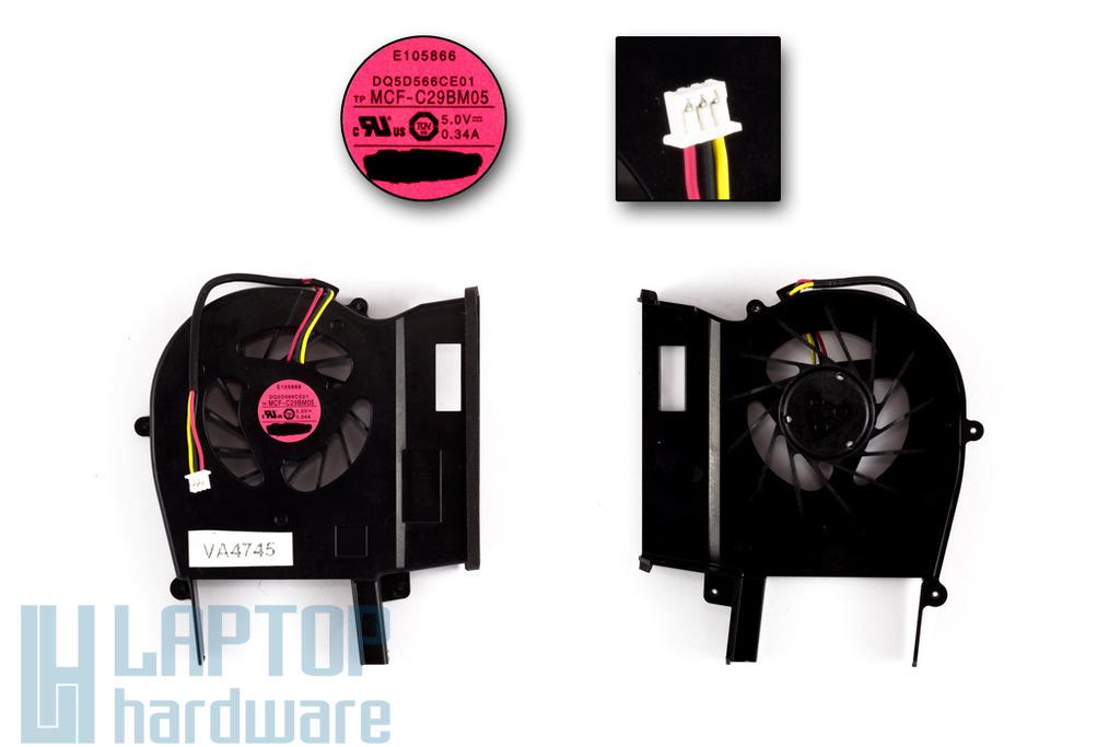 SONY VAIO VGN-CS110E, CS11S, CS11Z gyári új laptop hűtő ventilátor (MCF-C29BM05)