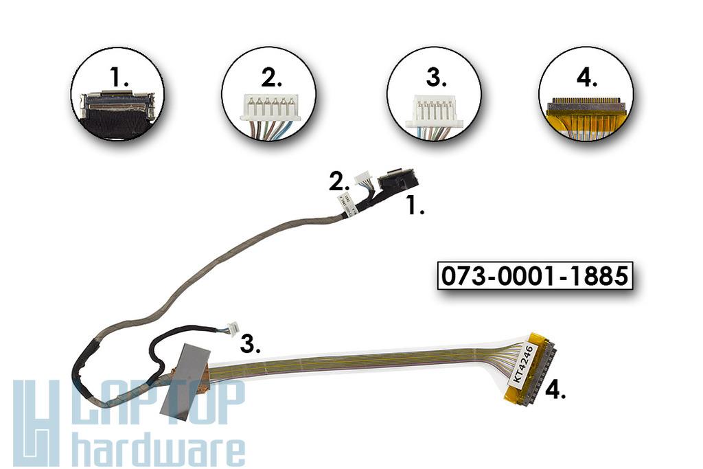 Sony Vaio VGN-FE laptophoz használt LCD kijelző kábel, 073-0001-1885