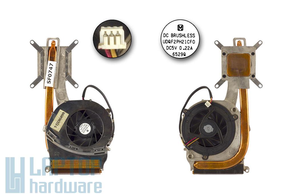 Sony Vaio VGN-FS600 használt komplett laptop hűtés (050822DA, UDQF2PH21CF0)