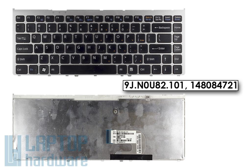 SONY VAIO VGN-FW használt UK angol laptop billentyűzet ezüst kerettel (148084721)