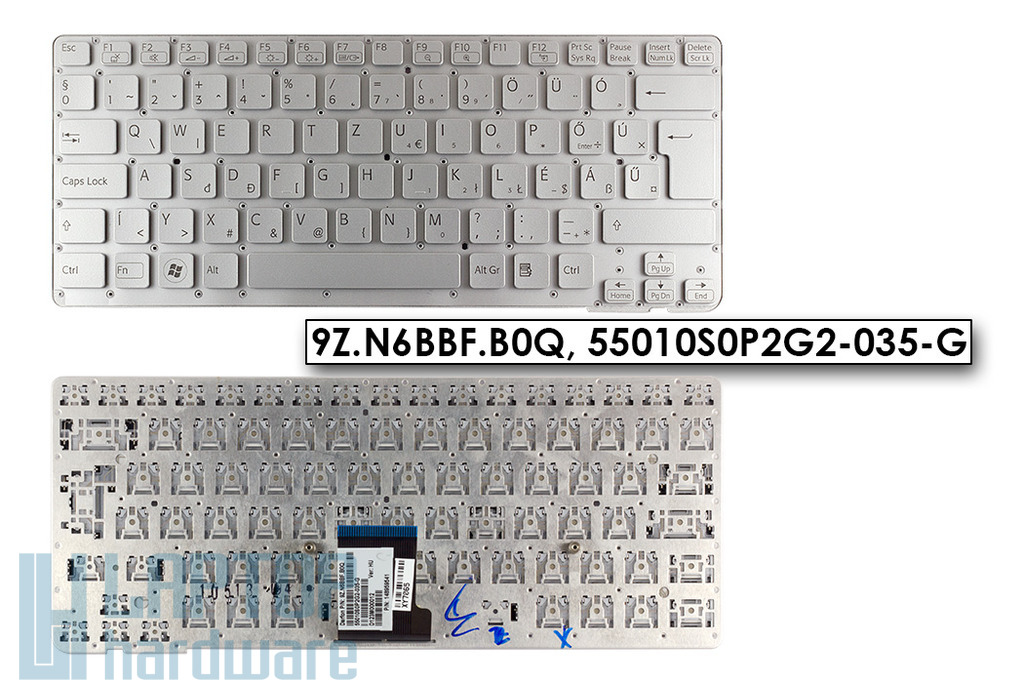 Sony Vaio VPC-CA, VPC-SA gyári új magyar laptop billentyűzet (9Z.N6BBF.B0Q)