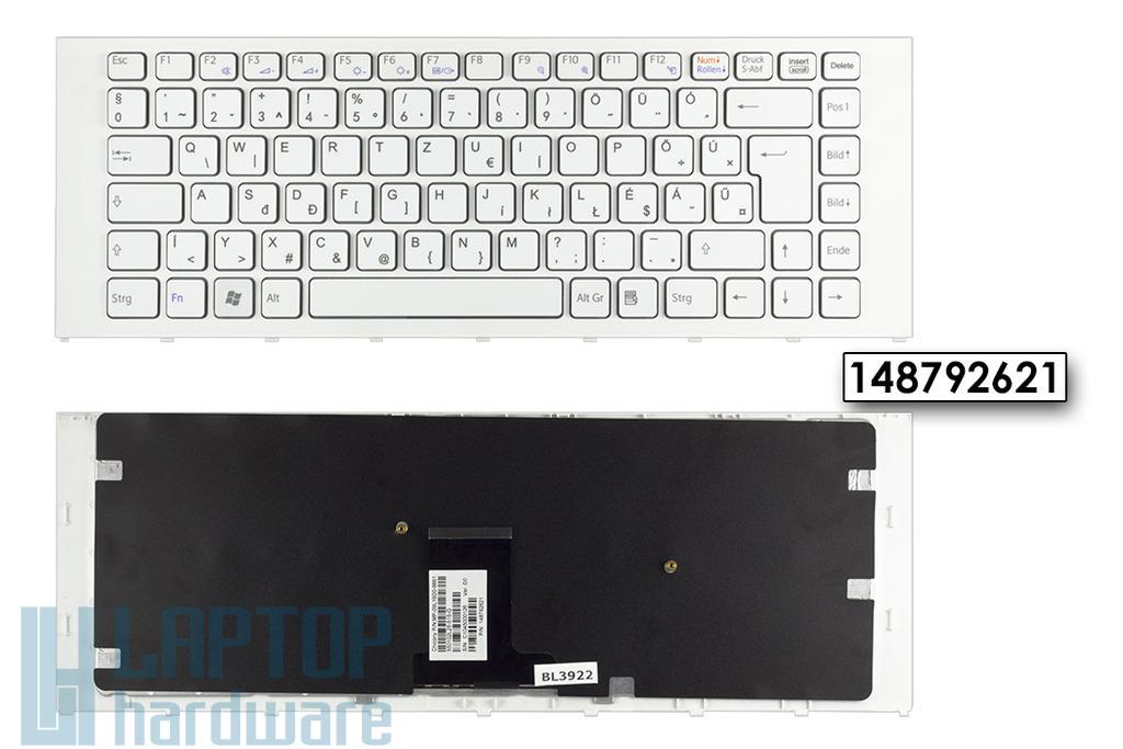 Sony Vaio VPC-EA gyári új magyarított fehér billentyűzet (148792621)