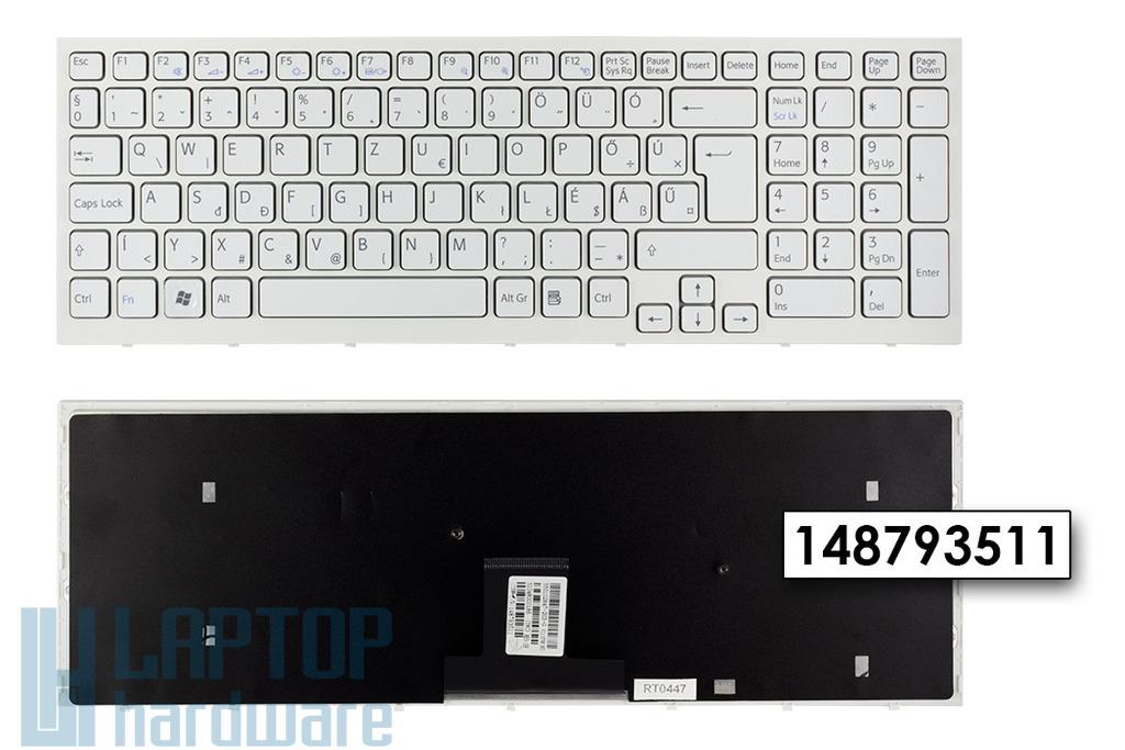 Sony Vaio VPC-EB gyári új magyar fehér laptop billentyűzet (148793511)