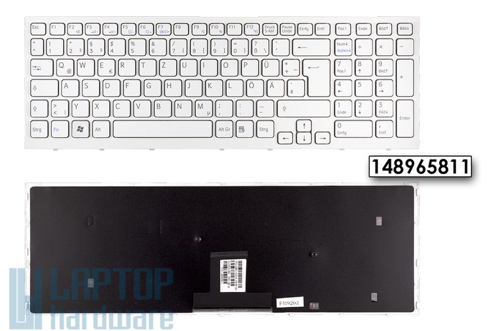 Sony Vaio VPC-EB gyári új német fehér laptop billentyűzet, 148965811