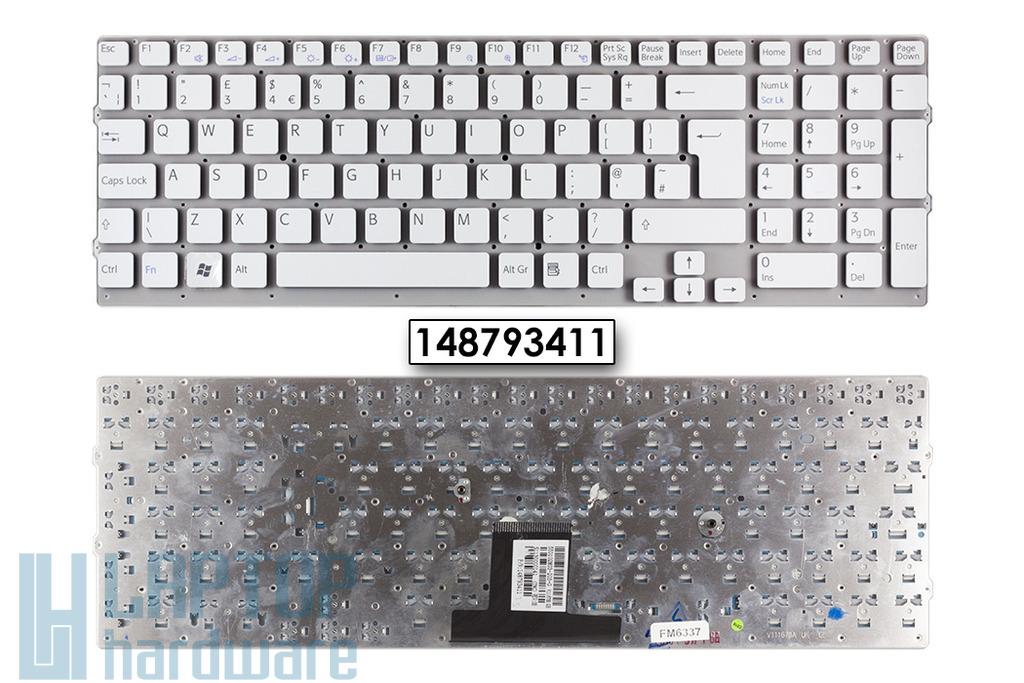 Sony Vaio VPC-EB gyári új UK angol fehér keret nélküli  laptop billentyűzet, 148793411