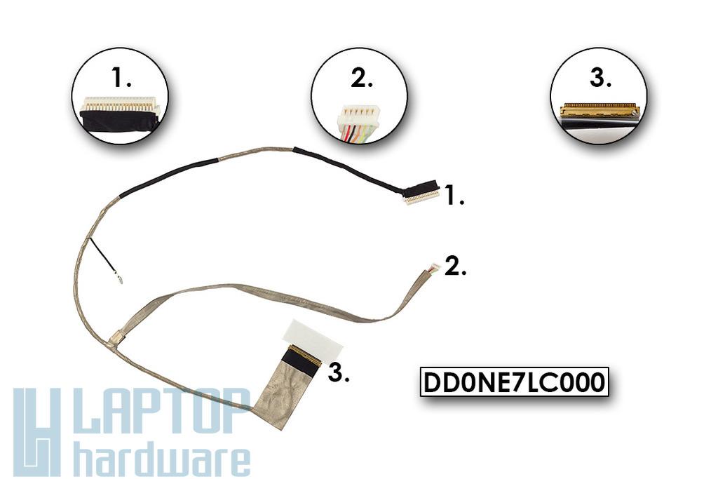 Sony Vaio VPC-EE sorozatú laptopokhoz gyári új LCD kijelző kábel (LED) (DD0NE7LC000)