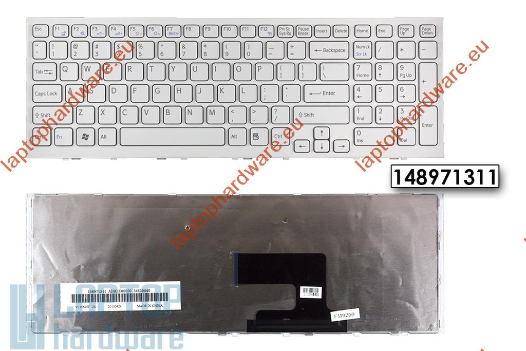 Sony Vaio VPC-EH használt fehér magyarított laptop billentyűzet, 148971311