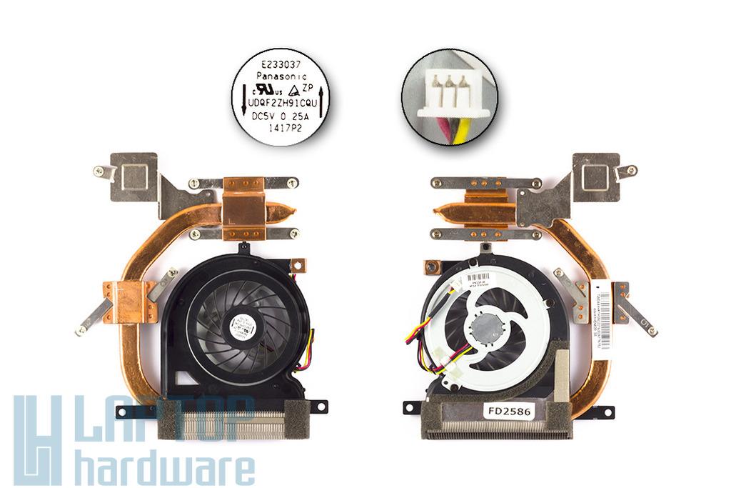 Sony VAIO VPC-EH, PCG-71811M laptophoz használt komplett hűtő ventilátor egység (TWEA4XHK1HSN020)