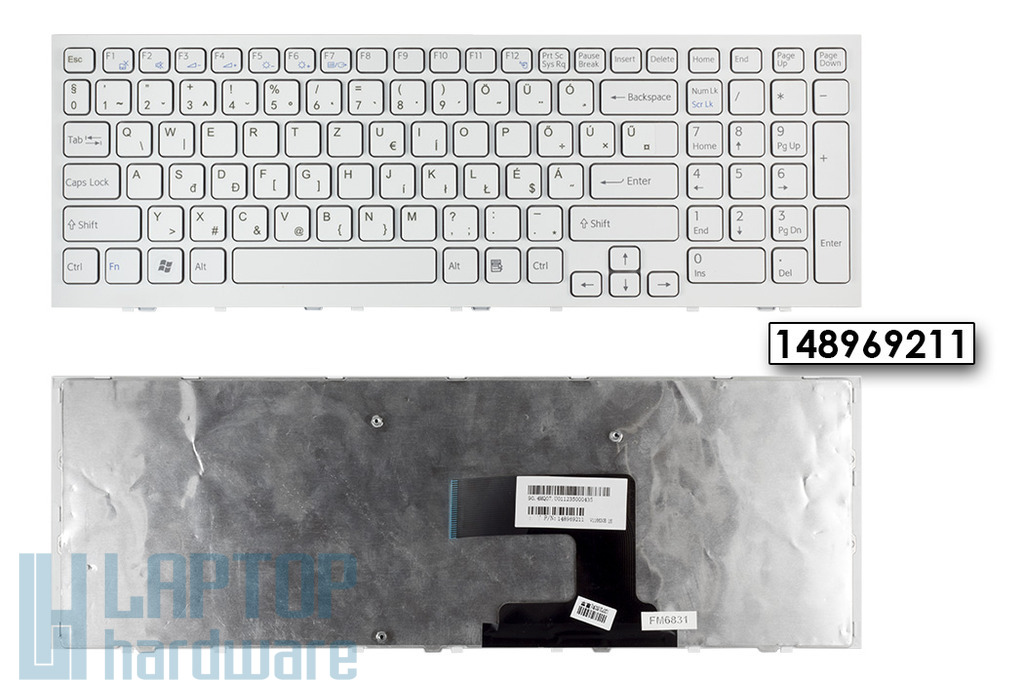 Sony Vaio VPC-EL fehér magyarított laptop billentyűzet, 148969211