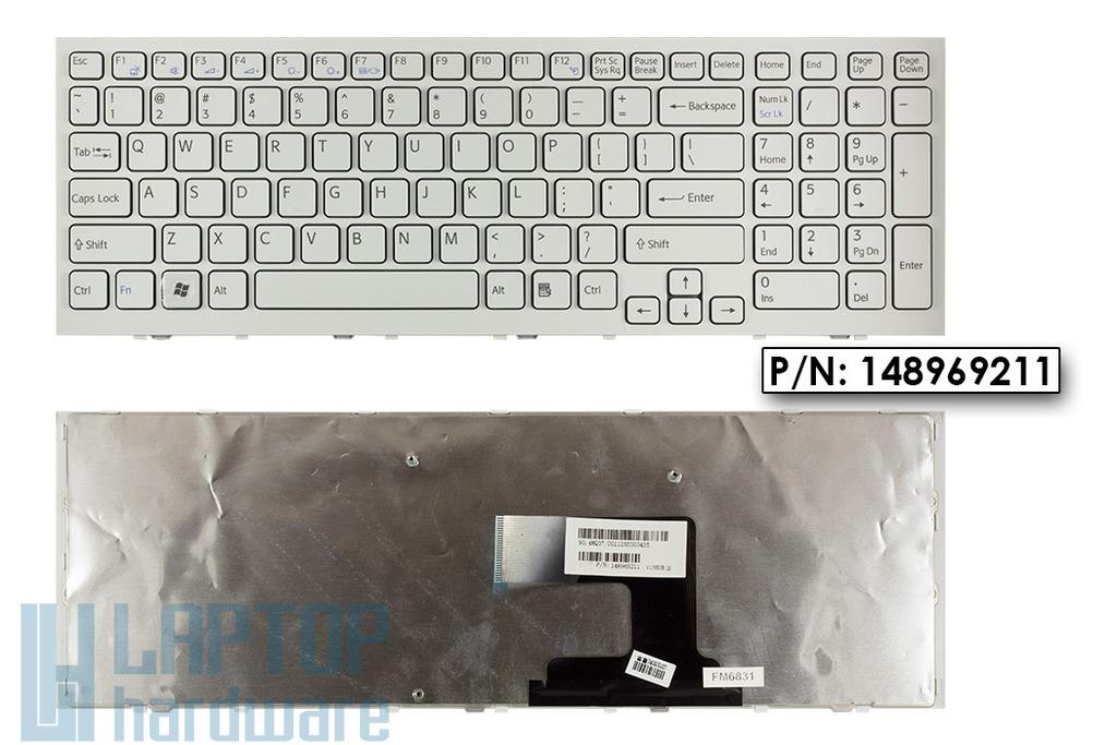 Sony Vaio VPC-EL fehér US angol laptop billentyűzet, 148969211
