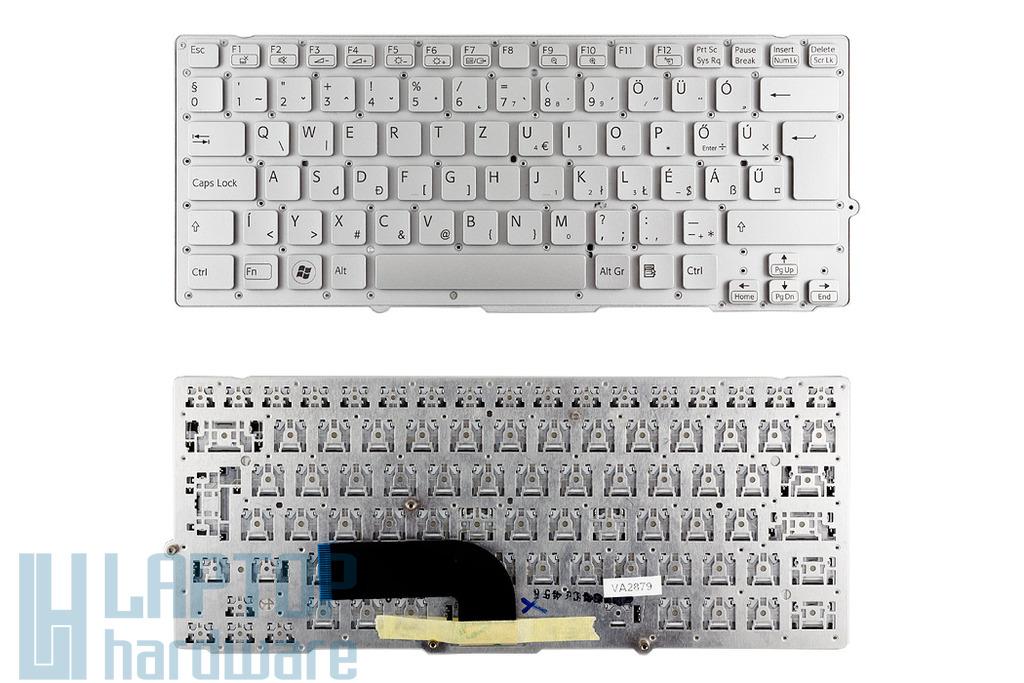 SONY VAIO VPC-SB, VPC-SD gyári új ezüst magyar laptop billentyűzet (9ZN6BBF.10Q)