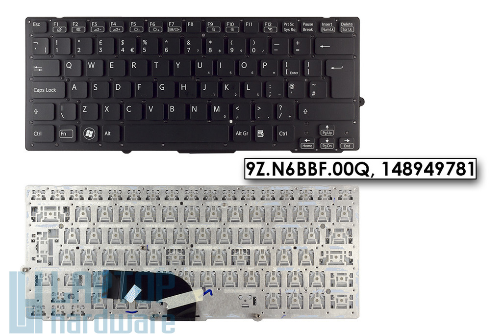 SONY VAIO VPC-SB, VPC-SD gyári új UK angol laptop billentyűzet (9Z.N6BBF.00Q)