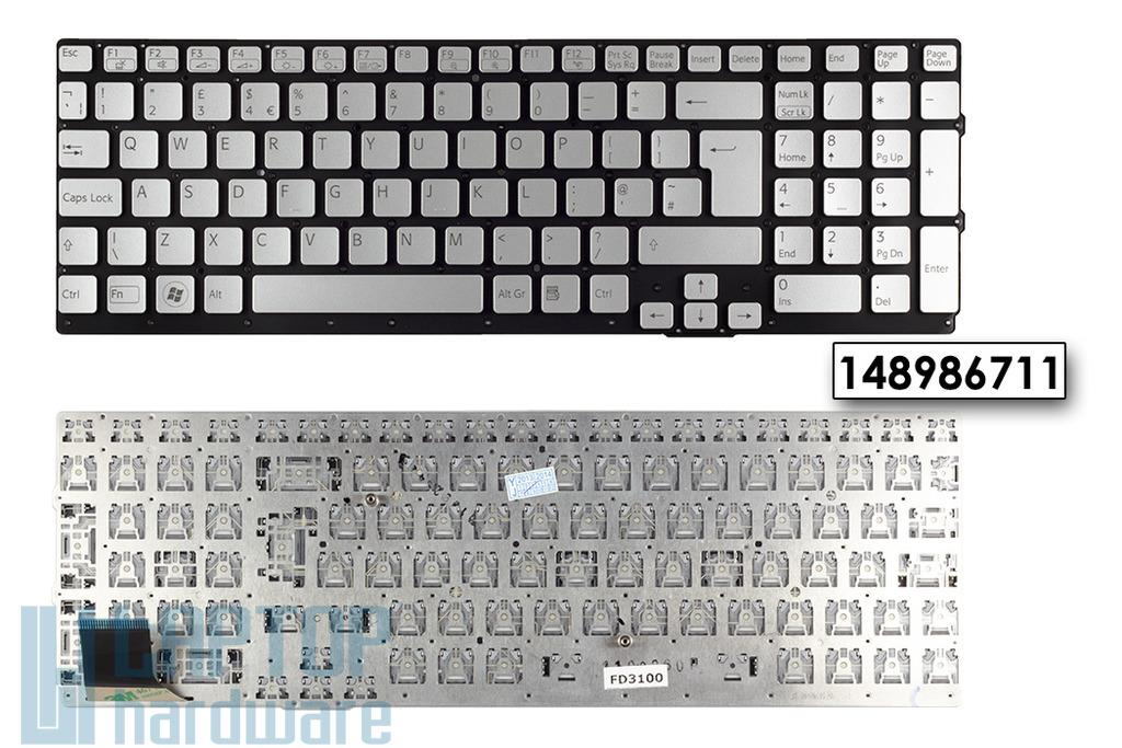 Sony Vaio VPC-SE1E1E/S, VPC-SE290X, VPC-SE25FX UK angol laptop billentyűzet, 148986711