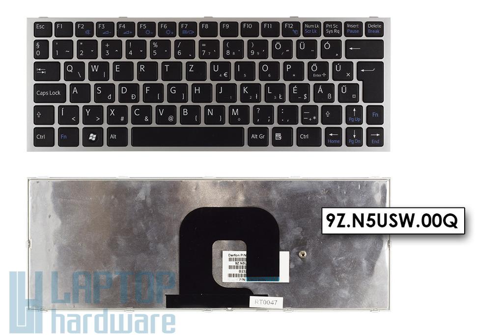 Sony Vaio VPC-YA1V9E-B, VPC-YA1C5E gyári új magyar ezüst laptop billentyűzet (9Z.N5USW.00Q)