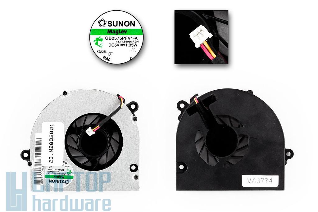 Acer Aspire 5241, 5332, eMachines E525 gyári új laptop hűtő ventilátor (GB0575PFV1-A)