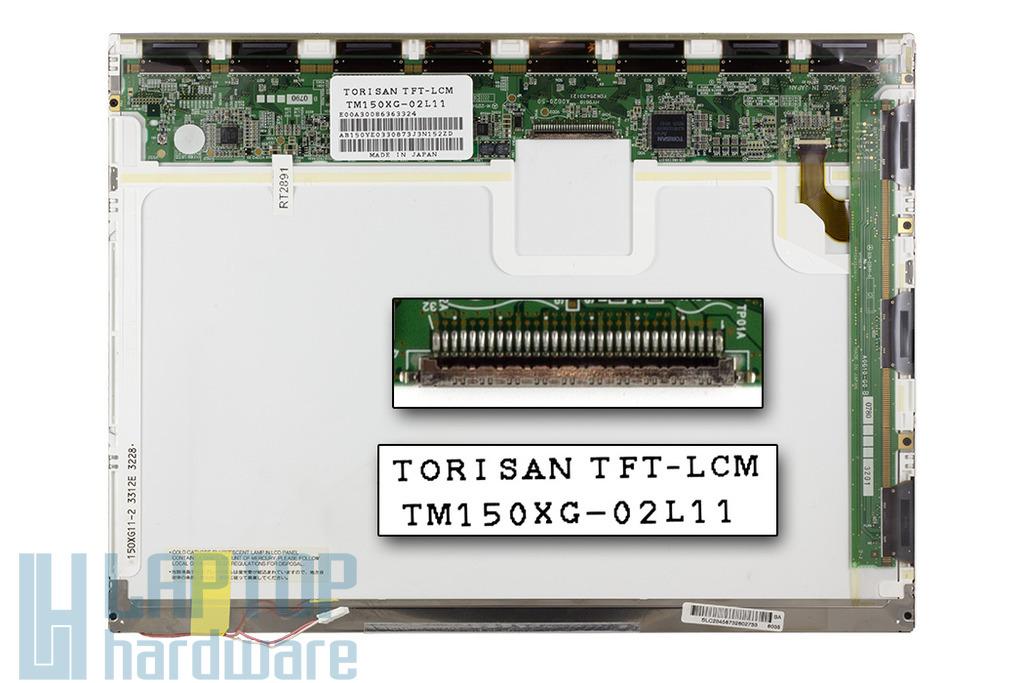 Torisan 15 inch CCFL XGA 1024x768 használt matt laptop kijelző (TM150XG-02L11)