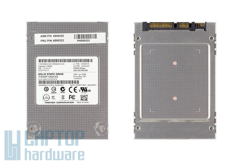 Toshiba 128GB SATA3 használt újszerű SSD meghajtó Lenovo laptophoz, 45N8323, THNSNF128GCSS