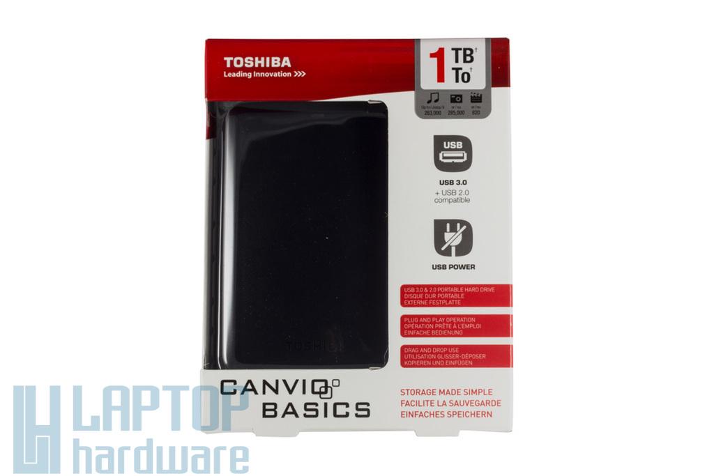 """Toshiba 2,5"""" 1TB USB3.0 külső winchester, (HDTB310EK3AA)"""