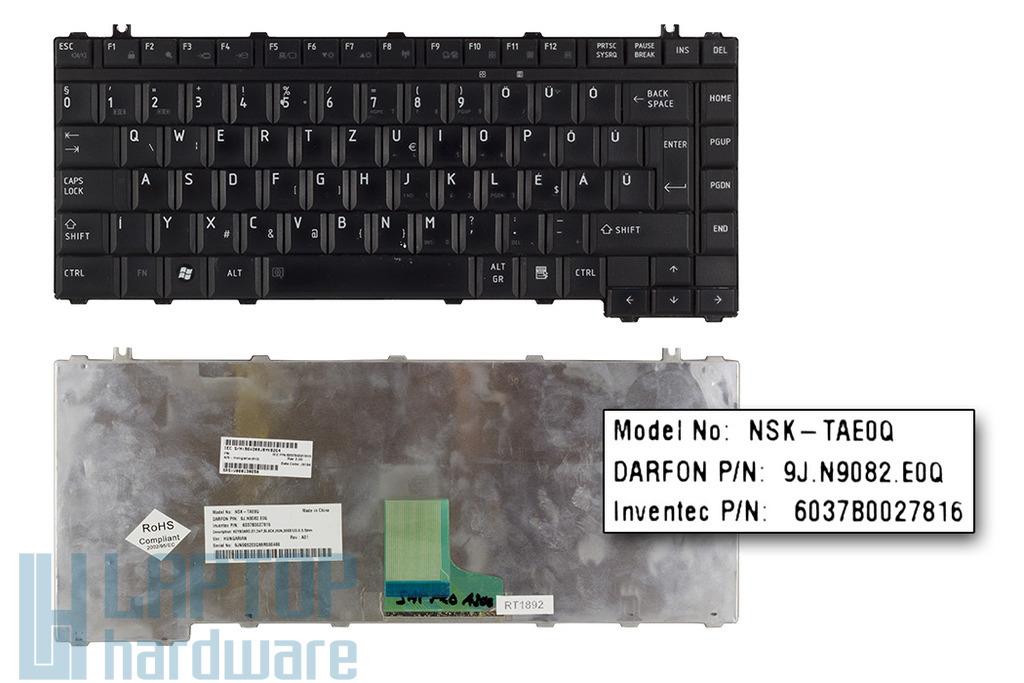 Toshiba A200, L300, M200 használt magyar fekete laptop billentyűzet (NSK-TAE0Q)