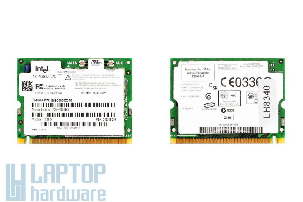 Intel WM3B2200BG használt Mini PCI WiFi kártya Toshiba laptophoz (PA3362U-1MPC)