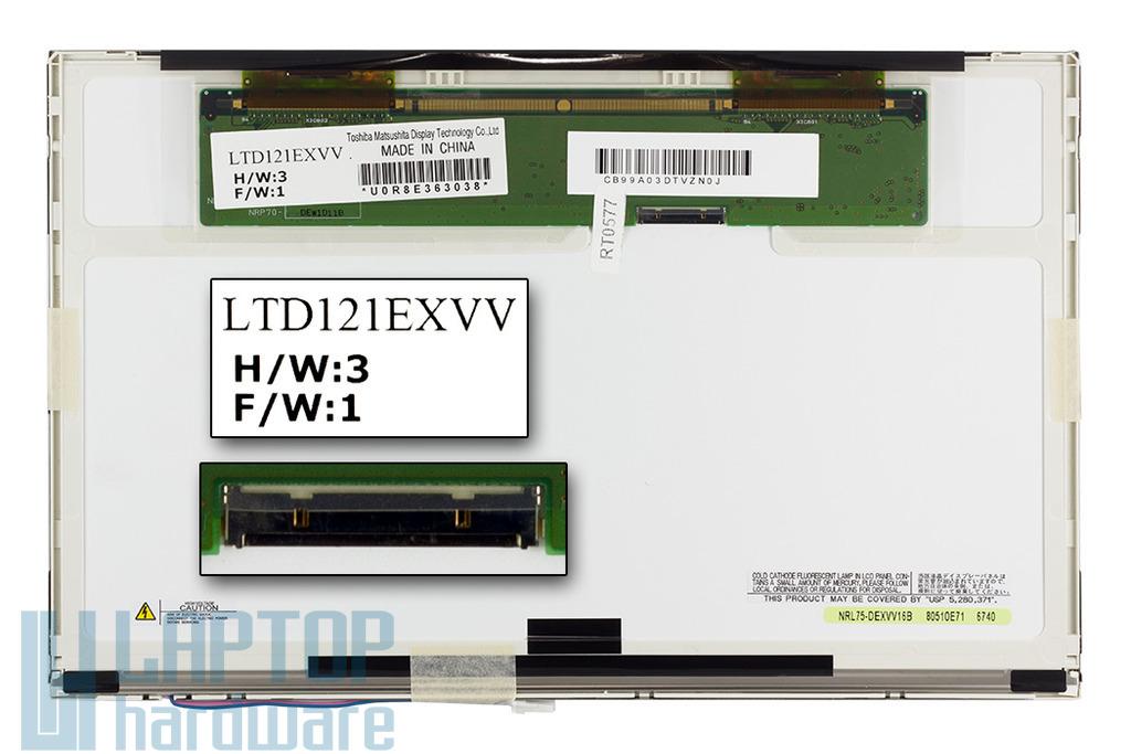 Toshiba LTD121EXVV (12,1 inch) WXGA 1280x800 gyári új fényes laptop kijelző