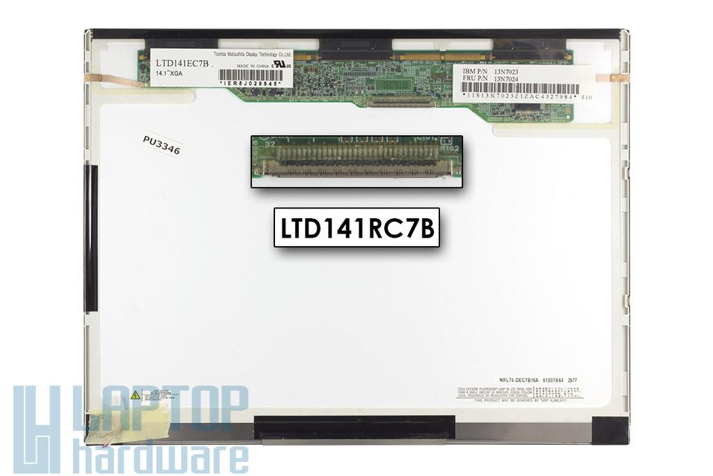 Toshiba LTD141EC7B 14,1 inch XGA(1024x768) használt matt LCD kijelző