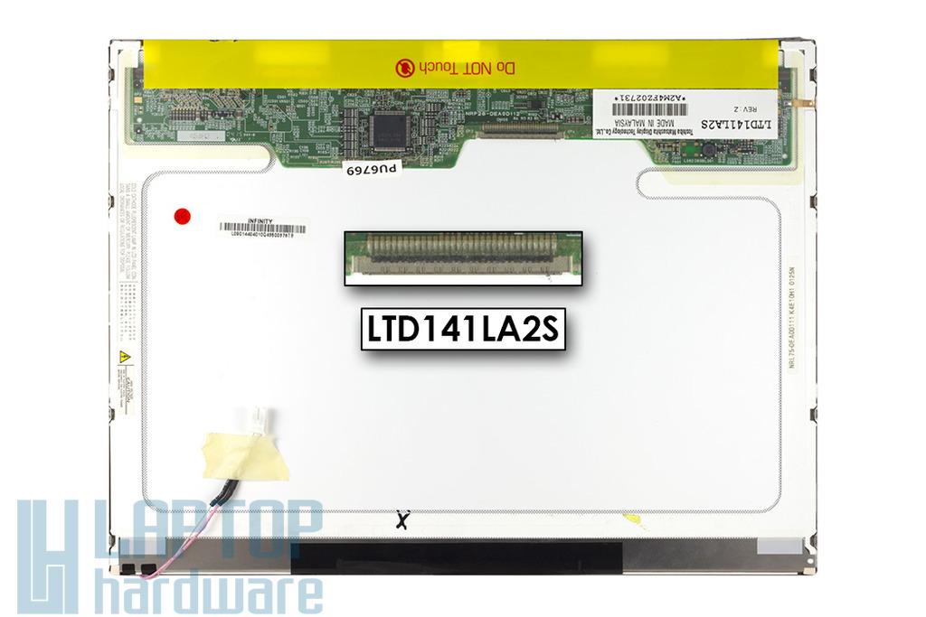Toshiba LTD141LA2S 14,1 inch XGA(1024x768) használt matt laptop LCD kijelző