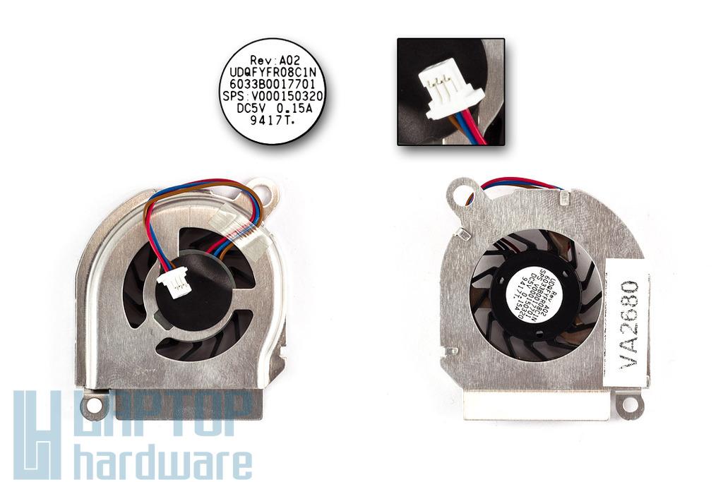 Toshiba Mini NB100 gyári új netbook hűtő ventilátor (UDQFYFR08C1N)