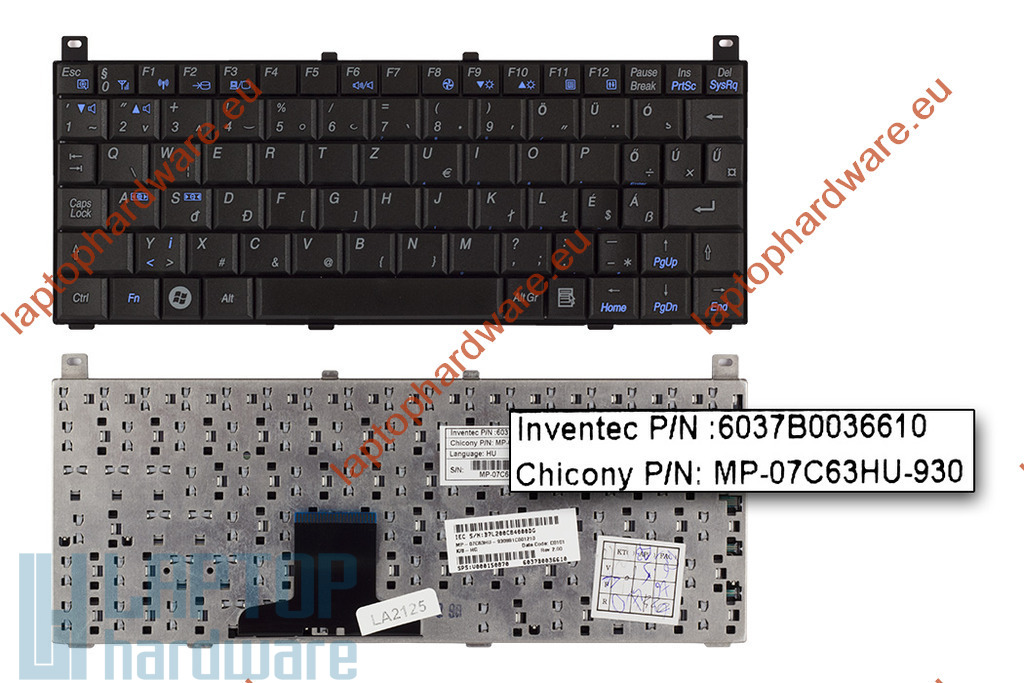 Toshiba Mini NB100, NB105 használt magyar laptop billentyűzet (MP-07C63HU-930)