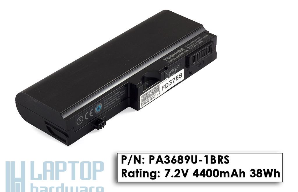 Toshiba Mini NB100, NB105 használt 80%-os 4 cellás laptop akku/akkumulátor  PA3689U-1BRS